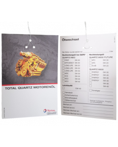 Total Ölzettel / Ölwechselanhänger